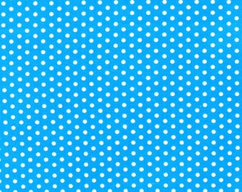 """13.5"""" of Spot On Blue with White Dots by Studio RK for Robert Kaufman"""