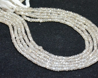 """3.5mm 6.75"""" Zircon faceted beads - natural and untreated ZIR005"""