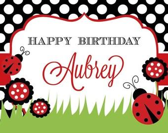 Ladybug Birthday, Ladybug Birthday Party, Ladybug Invitation, Ladybug Printables, Ladybug Decorations, Lauren Haddox Designs