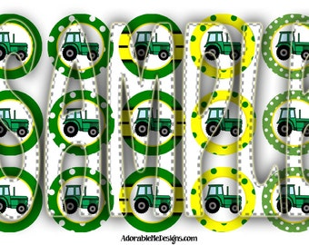 Tractor Bottle Cap Images Digital File