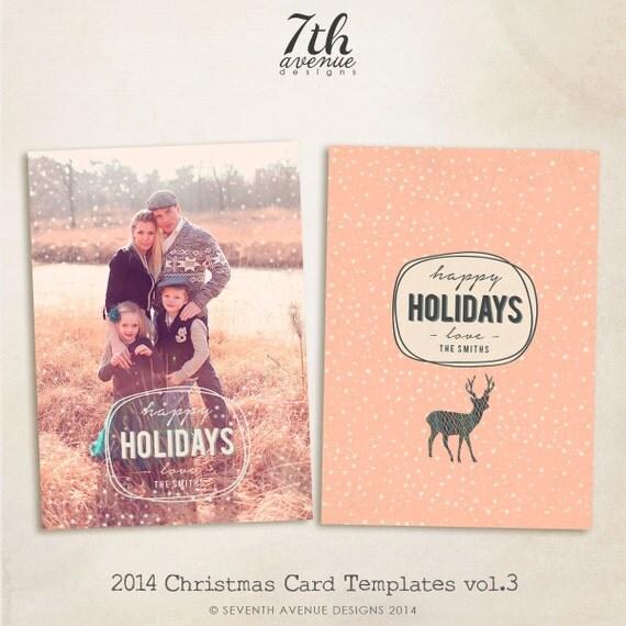 Items Similar To 2014 Christmas Card Templates Vol.3 7x5
