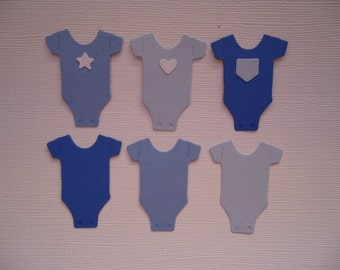 6 Bodysuit Onesie Die Cuts Super Cute for Scrapbooking Cards Baby Announcements and Paper Crafts