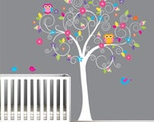 Baby Nursery Tree Wall Decal Wall Sticker-Tree Wall Decal-Tree Decals