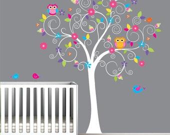 Baby Nursery Tree Wall Decal Wall Sticker-Tree Wall Decal-Tree Decals-e38