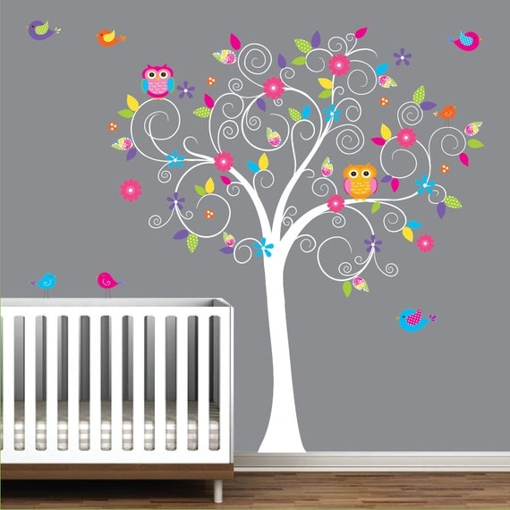 b b cr che arbre mur sticker mural autocollant arbre mur. Black Bedroom Furniture Sets. Home Design Ideas