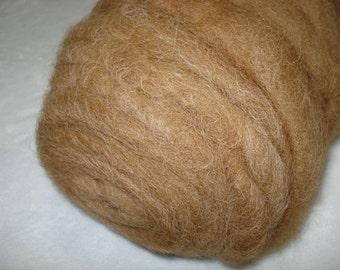 Medium Brown Alpaca Roving - 4 oz Bump