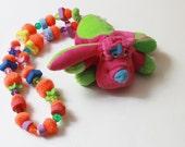 SALE Plush Dog Kandi Necklace