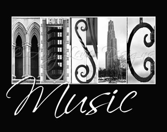 MUSIC Alphabet Photography - with whimsical text (various sizes)