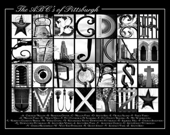 Alphabet Photography The ABC's of Pittsburgh 11 x 14