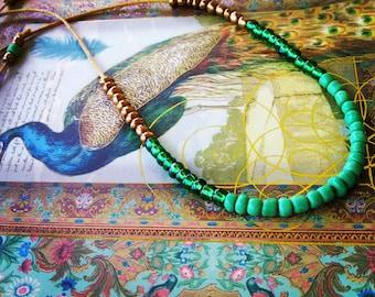 Boho Chic Beadwork Necklace