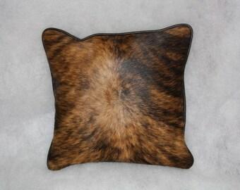 Light Brown Brindle Cowhide Pillows