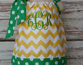 Custom Monogrammed Pillowcase Dress -----Pick your Fabrics------