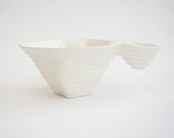Coffee Cup - Ceramic Cup - Porcelain Cup Inspired with Mountain