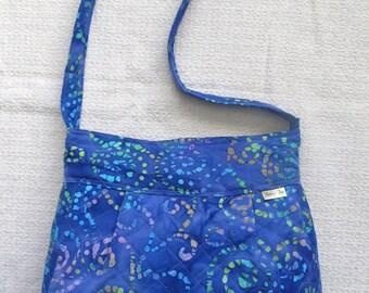 Purple Quilted Shoulder Bag