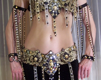 Belly Dance costume- Silk brocade