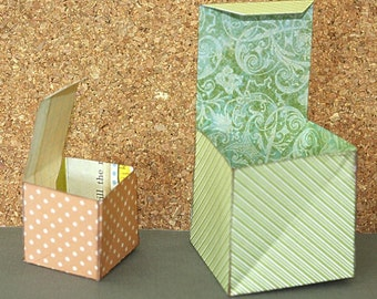 Collapsible Gift Box SVG Cutting File Kit