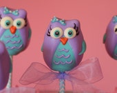 Mom's Killer Cake Pops Original Design Mariel's Owls Owl Cake Pops Your Custom Colors Available