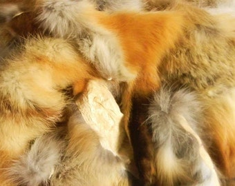 fox.medicine ~ ONE FULL POUND of Natural Red Fox /  Grey Fox Fur Bits & Pieces for Supply