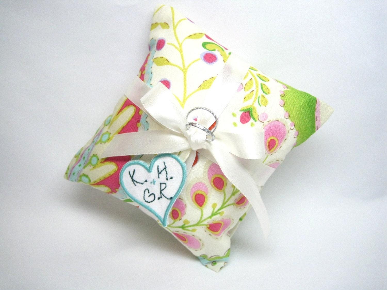 Wedding Ring Pillow Ring Bearer Pillow Floral By FlowerdanceBridal