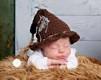 The Littlest Scarecrow Hat Newborn Photo Prop Autumn Harvest Halloween Fall Scarecrow Costume