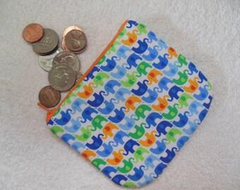 Elephants coin pouch