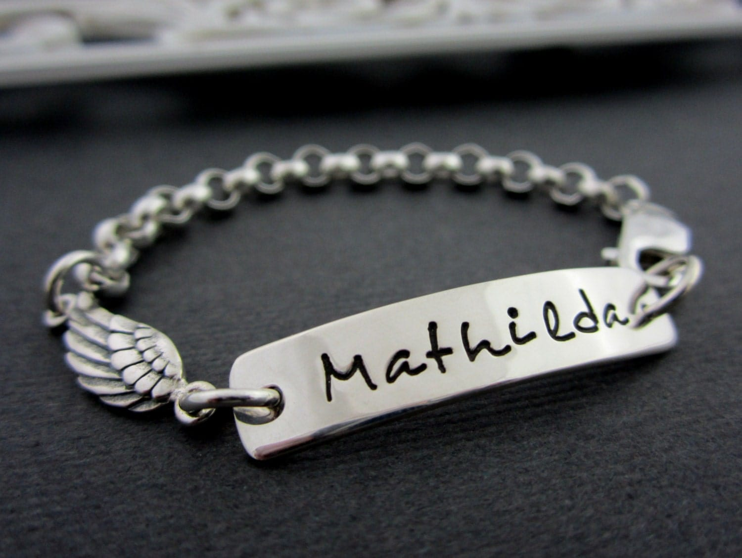 Personalized Name Bracelet Child Bracelet Kids by ShinyMetals
