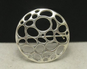 A000009 Sterling Silver  Brooch Circle 925