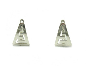 E000136 Sterling Silver Earrings Solid 925