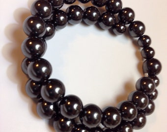 Grounding Hematite Bracelet on Memory Wire- One Size Fits All