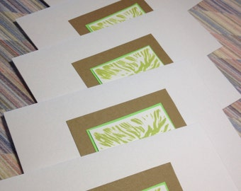 Hand pulled Tree Lino Cut All Occasion Greeting Card