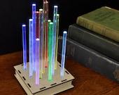 Metropolis Table Top Night Light - Slow Fading Rainbow Desktop Light Mood Lamp for Creating Glowing Mood Enhancing Ambient Lighting