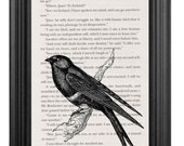 Jane Eyre Book Page Art Print