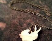 Tiny Rabbit Necklace - Proceeds Donated to House Rabbit Society - Fundraiser