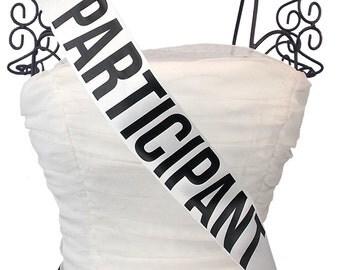 Pageant Participant Sash Custom Colors
