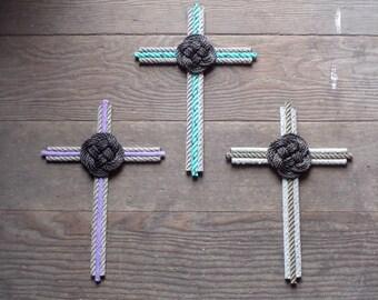 Rope Cross Choose Colors Natural Purple Green Blue Browns Cross Collectors
