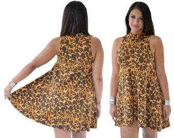 Leopard Dress Halter mini