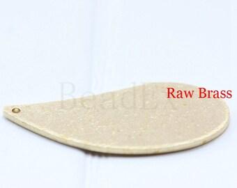 10pcs / Tear Drop / Pendant / Raw Brass / 28x12mm  (C1704//P314)