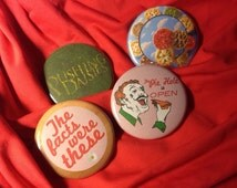 """Pushing Daisies 4 pack 1.5"""" buttons"""