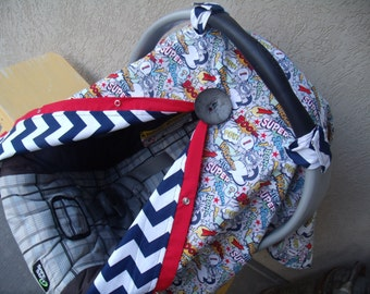 Carseat Canopy Boom Boom Pow Reversible