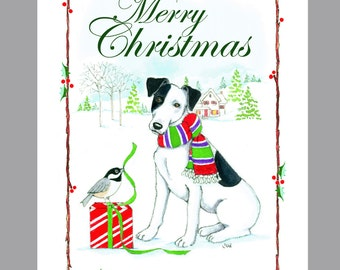 Fox Terrier, Smooth, Christmas Cards, Box of 16 Cards and 16 Envelopes
