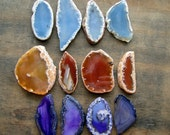 Wholesale, Agate Slices, Mixed Set of 12