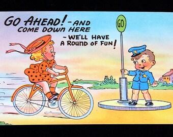 "Vintage ""CHILDREN"" humorous postcards group of 5"