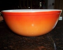 Orange Glo 404 Vintage Pyrex Nesting Mixing Bowl 4 Quart