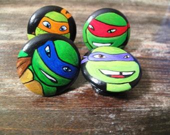 80 S Teenage Mutant Ninja Turtle Hand Painted Dresser
