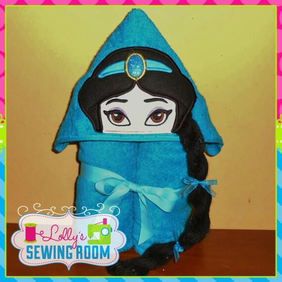 Monogrammed Princess Beach Towel: Princess Jasmine Hooded Towel Can Be Personalized