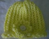 Newborn Baby Preemie Infant Girl Hat With Flower