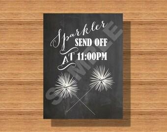 Fun Chalkboard Wedding Sparker Send Off Sign
