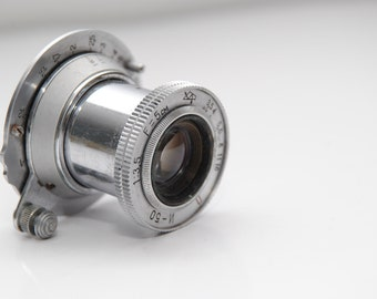 Old INDUSTAR 50 3,5/50 USSR Soviet Russian Collapsible Lens Zorki Leica red П