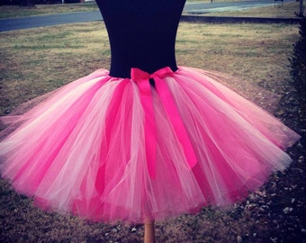 Adult Flamingo Tutu, Flamingo Costume Tutu, Multi pink adult tutu, Adult tutus, Halloween Tutus, Adult Flamingo tutu for waist up to 34 1/2""