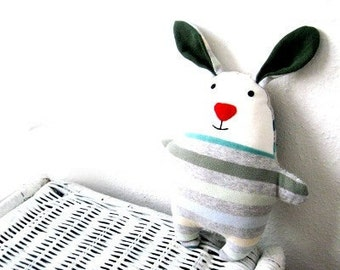 Rag doll rabbit bunny PDF sewing pattern tutorial soft softie plush plushie